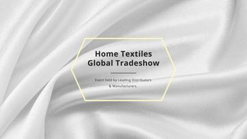 Home Textiles Events Announcement with White Silk