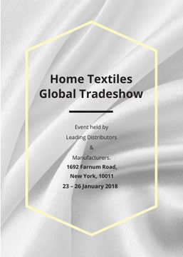 Home Textiles event announcement White Silk