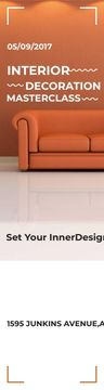 Interior Decoration Event Announcement Sofa in Orange