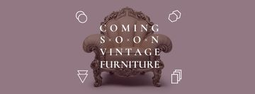 Antique Furniture Ad with Luxury Armchair