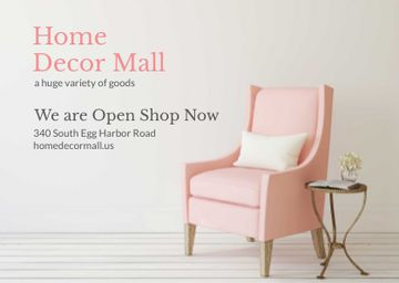 Home Decor Offer with Soft Pink Armchair