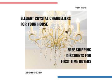 Elegant crystal Chandelier offer