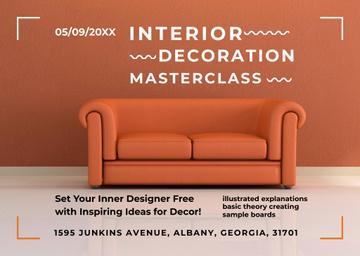 Interior decoration masterclass with Orange Sofa