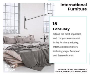 Furniture Store Ad Bedroom in Grey Color