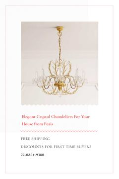 Elegant Crystal Chandelier Offer in White