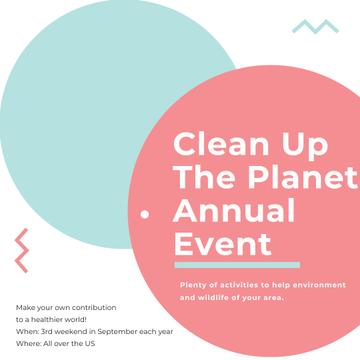 Ecological Event Simple Circles Frame