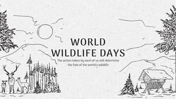 World Wildlife Day Event Announcement with Nature Drawing