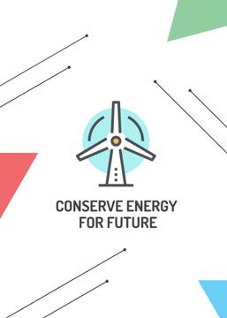 Conserve Energy Wind Turbine Icon