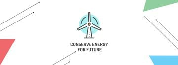 Conserve Energy with Wind Turbine Icon