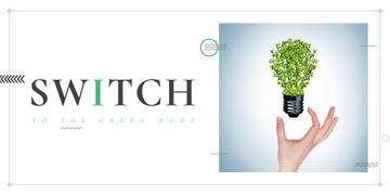 Eco Technologies Concept with Light Bulb and Leaves