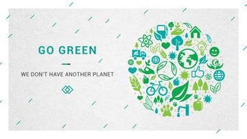 Ecology Concept with green Nature icons