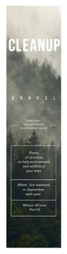 Ecological Event Announcement Foggy Forest View