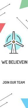 Eco-friendship Concept Wind Turbine Icon