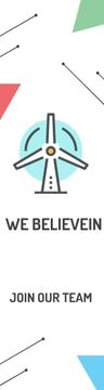 Eco-friendship Concept Wind Turbine Icon