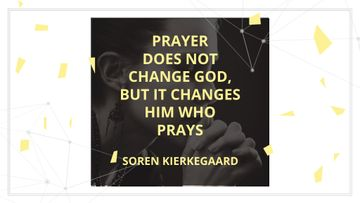 Religion Quote with Woman Praying