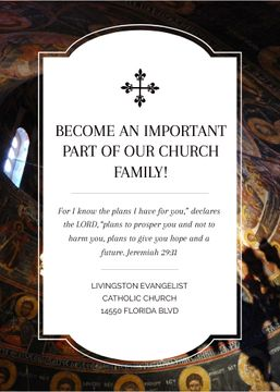 Church Invitation Old Cathedral View