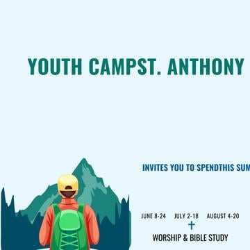 Youth religion camp with Kid in Mountains