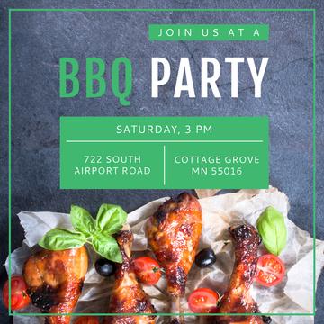 BBQ party Invitation