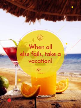 Vacation Offer Cocktail at the Beach