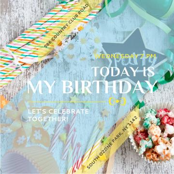 Birthday Party Invitation Bows and Ribbons