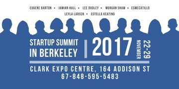 Startup Summit Announcement with Businesspeople Silhouettes