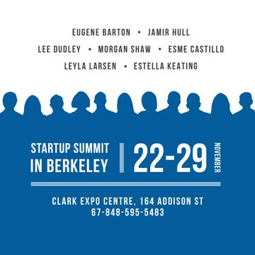 Startup summit with People Silhouettes