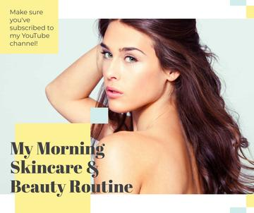 Skincare Routine Tips Woman with Glowing Skin