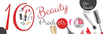 10 beauty products poster