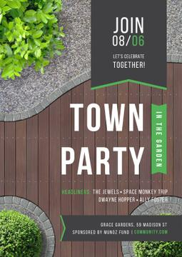 Town party in the garden