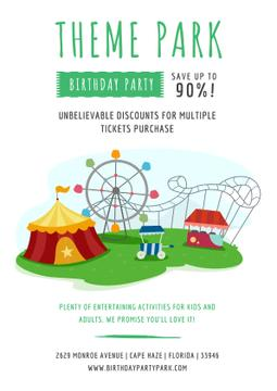 Birthday party in Theme park