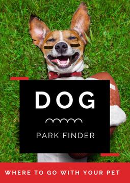 Cute Dog in sunglasses in Park