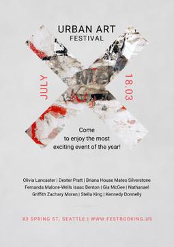 Urban Art Festival Invitation