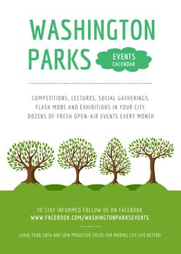 Park Event Announcement Green Trees