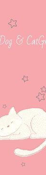 Pet Grooming Service Sleepy Cat in Pink