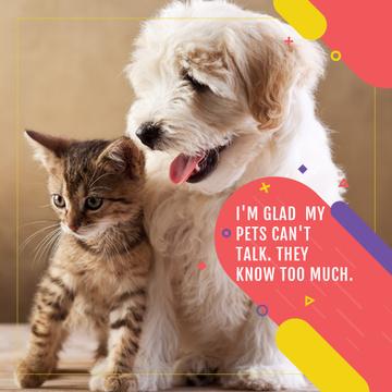 Citation about not talking pets