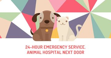 Animal hospital services Ad with Cute Pets