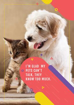 Citation about not talking pets