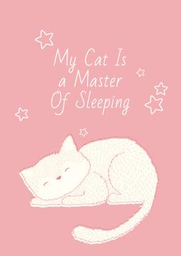 Citation about sleeping cat
