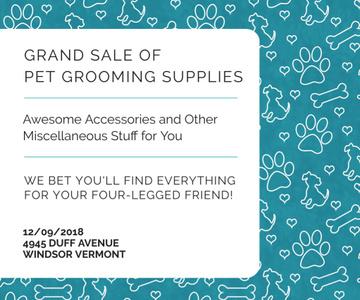 Grand sale of pet grooming supplies