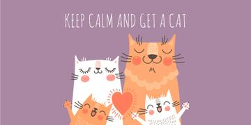 Keep calm and get a cat poster
