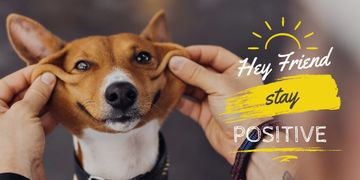 Hey friend stay positive poster