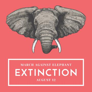 Animal Protection march announcement with Elephant