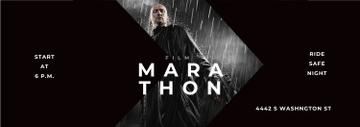 Film Marathon Ad Man with Gun under Rain