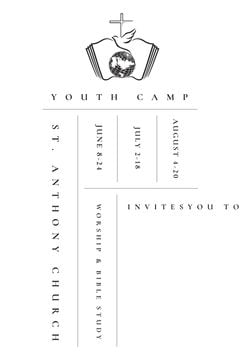 Youth religion camp Promotion in white