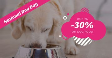 Discount card for dog food on national dog day