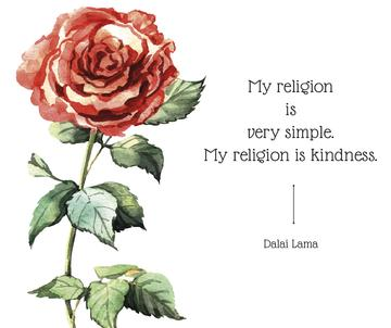 Religion Inspirational quote with rose