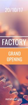 Factory grand opening banner