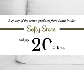 Cotton products sale advertisement