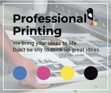 Professional printing poster