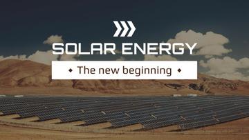 Green Energy Solar Panels in Desert